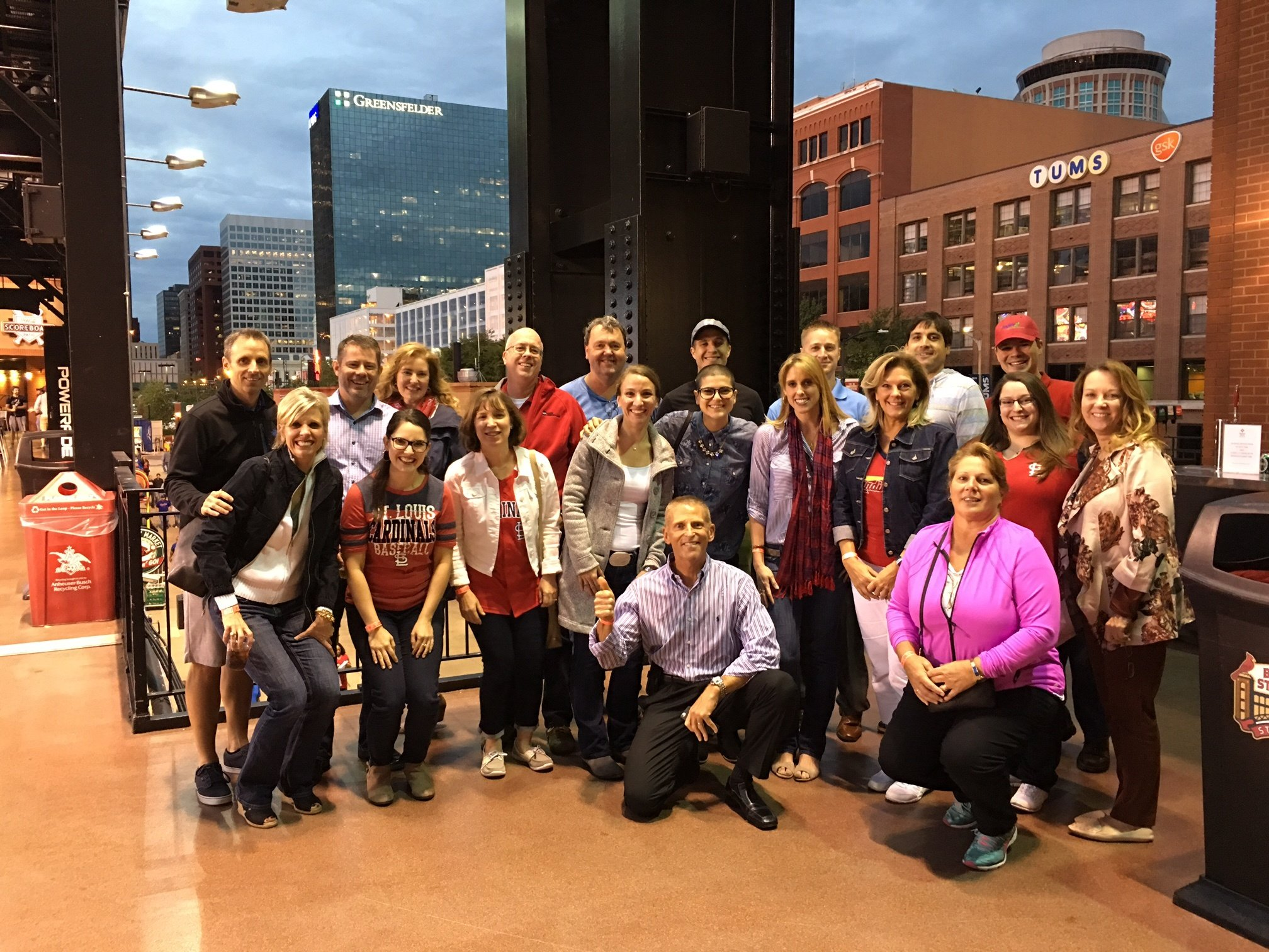 The Aspire Team at a St. Louis Cardinals Game